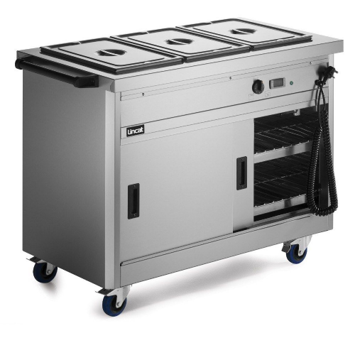 Lincat Panther P6B3 Mobile Bain Marie Top 1/1 GN Hot Cupboard